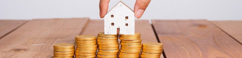 Pièces de monnaie et maison