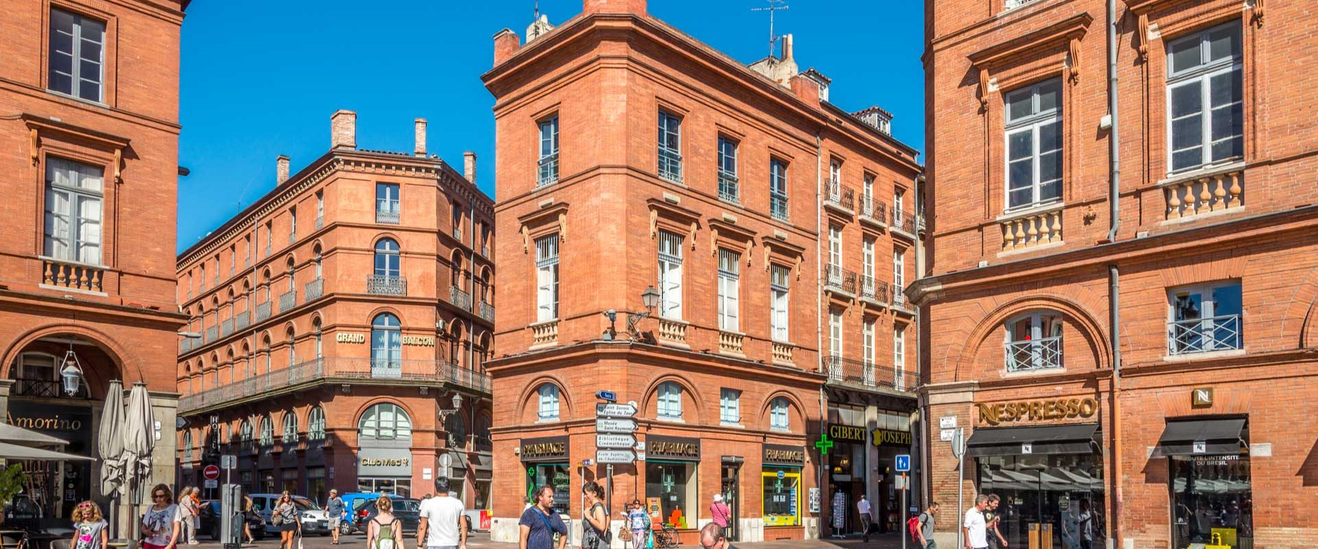 Toulouse en plein centre ville